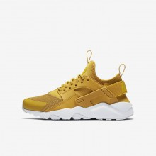Nike Air Huarache Lifestyle Shoes For Boys Mineral Yellow/Pure Platinum/Vivid Sulfur 847569-700