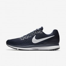 Mens Obsidian/Thunder Blue/Black/White Nike Air Zoom Running Shoes 880555-407