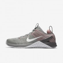 Nike Metcon DSX Training Shoes For Women Matte Silver/Rust Pink/Gunsmoke/White 924595-002