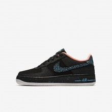 Nike Air Force 1 Lifestyle Shoes For Boys Black/Crimson Pulse/Summit White/Lagoon Pulse AJ4234-002