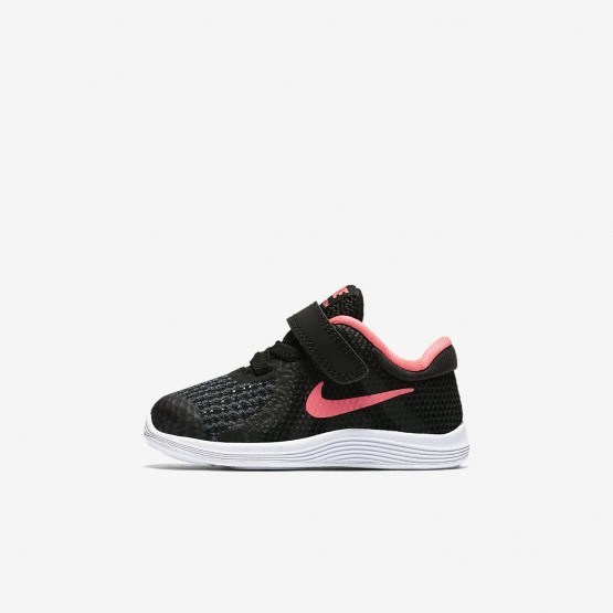 Nike Revolution 4 Running Shoes For Girls Black/White/Racer Pink 943308-004