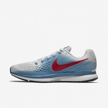 Mens Vast Grey/Aegean Storm/Thunder Blue/University Red Nike Air Zoom Running Shoes 880555-016