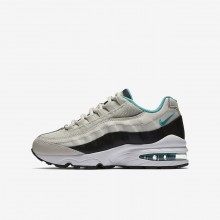 Boys Light Bone/Black/White/Sport Turquoise Nike Air Max 95 Lifestyle Shoes 905348-012