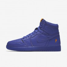 Mens Rush Violet Nike Air Jordan 1 Lifestyle Shoes AJ5997-555