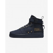Mens Obsidian/Black Nike SF Air Force 1 Lifestyle Shoes 917753-400