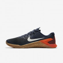 Mens Thunder Blue/Black/Hyper Crimson/White Nike Metcon 4 Training Shoes AH7453-401
