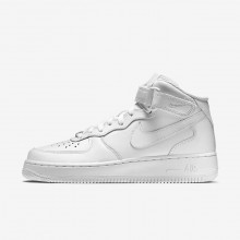 Womens White Nike Air Force 1 Lifestyle Shoes 366731-100
