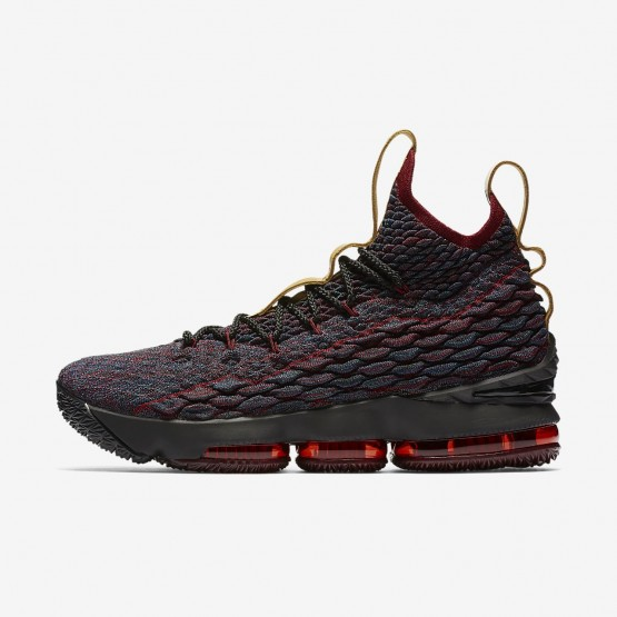 Nike LeBron 15 Basketball Shoes For Women Dark Atomic Teal/Team Red/Muted Bronze/Ale Brown 897648-300