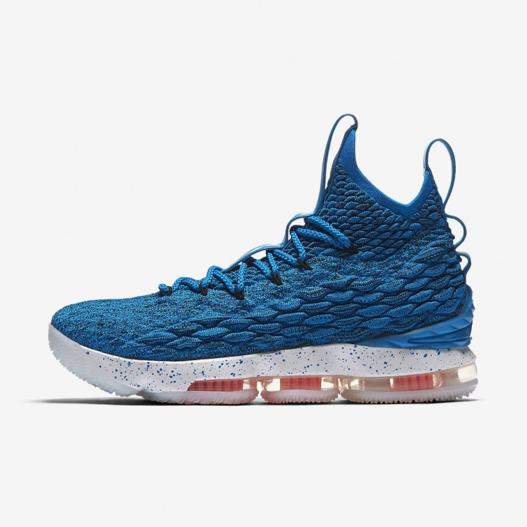 d20ffb6831e19 Nike LeBron 15 Basketball Shoes For Women Photo Blue Total Orange Summit  White 897648