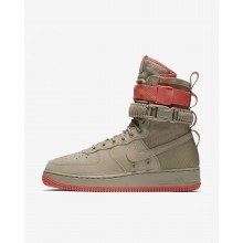 Nike SF Air Force 1 Lifestyle Shoes For Men Khaki/Rush Coral 864024-205