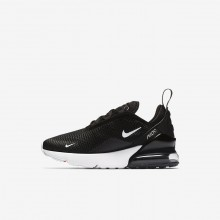 Boys Black/Anthracite/White Nike Air Max 270 Lifestyle Shoes AO2372-001