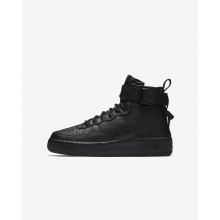 Boys Black Nike SF Air Force 1 Lifestyle Shoes AJ0424-003