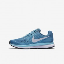Nike Zoom Pegasus Running Shoes For Girls Noise Aqua/Bleached Aqua/Green Abyss/White 881954-404