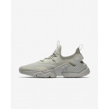 Mens Light Bone/Black Nike Air Huarache Lifestyle Shoes AH7334-001