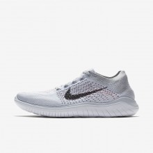 Mens Pure Platinum/White/Wolf Grey/Black Nike Free RN Running Shoes 942838-003