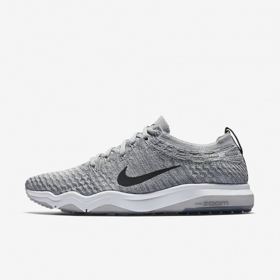 Womens Wolf Grey/White/Anthracite Nike Air Zoom Training Shoes 922872-002