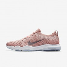 Womens Rust Pink/White/Gunsmoke Nike Air Zoom Training Shoes 922872-601