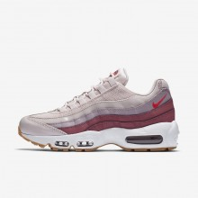 Womens Barely Rose/Vintage Wine/White/Hot Punch Nike Air Max 95 Lifestyle Shoes 307960-603