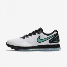 Mens White/Black/Clear Jade Nike Zoom All Out Running Shoes AJ0035-101