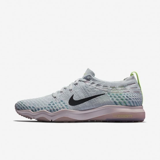 Womens Pure Platinum/Barely Rose/Elemental Rose/Anthracite Nike Air Zoom Training Shoes 922872-004