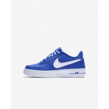 Boys Game Royal/White Nike Air Force 1 Lifestyle Shoes 820438-403