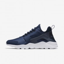 Womens Navy/Obsidian/White/Diffused Blue Nike Air Huarache Lifestyle Shoes 819151-404