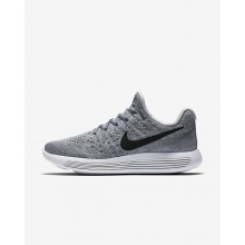 Womens Wolf Grey/Cool Grey/Pure Platinum/Black Nike LunarEpic Low Running Shoes 863780-002