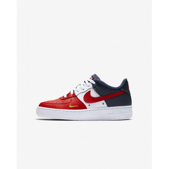 Boys University Red/Midnight Navy/University Gold Nike Air Force 1 Lifestyle Shoes 820438-603