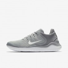 Womens Wolf Grey/White/Volt Nike Free RN Running Shoes 942837-003