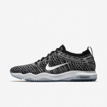 Womens Black/Cool Grey/White Nike Air Zoom Training Shoes 922872-007