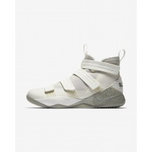 Nike LeBron Soldier XI Basketball Shoes For Women Light Bone/Black/Total Crimson/Dark Stucco 897646-005