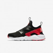 Nike Air Huarache Lifestyle Shoes For Girls Black/Bleached Coral/Speed Red AO1030-001