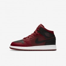Nike Air Jordan 1 Lifestyle Shoes For Boys Team Red/Summit White/Gym Red 554725-601
