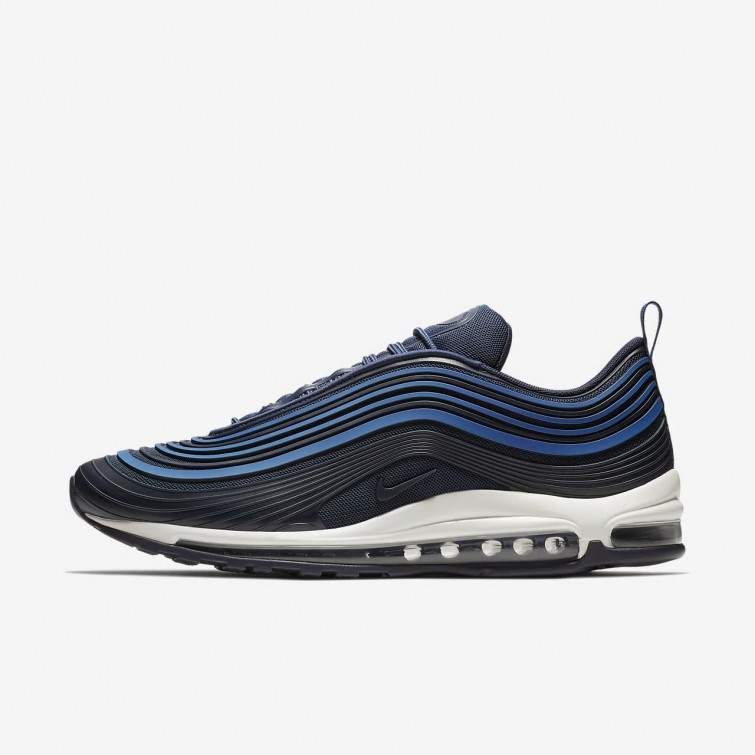 huge selection of 17db5 29f94 Chaussure Casual Nike Air Max 97 Homme Bleu Marine Obsidienne AH7581-400