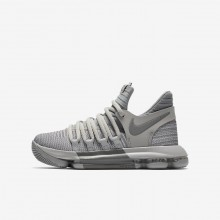 Boys Wolf Grey/Cool Grey Nike Zoom KDX Basketball Shoes 918365-007