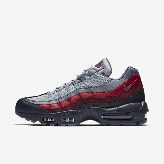 Mens Anthracite/Wolf Grey/Team Red/Cool Grey Nike Air Max 95 Lifestyle Shoes 749766-025