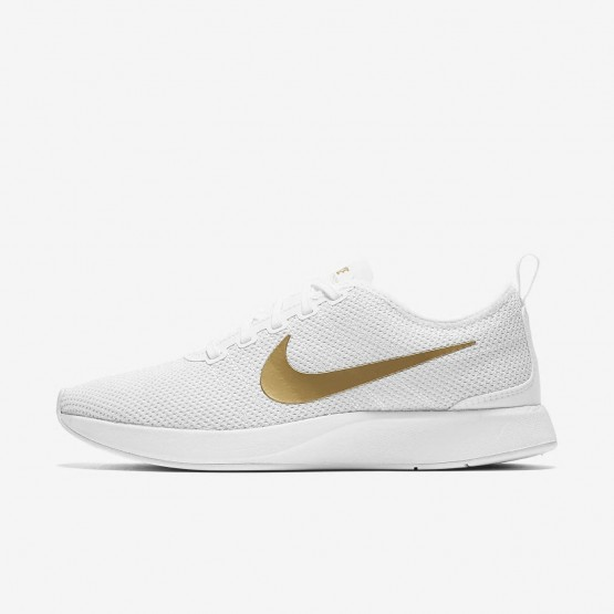 Nike Dualtone Racer Lifestyle Shoes For Women White/Vast Grey/Metallic Gold 940418-101