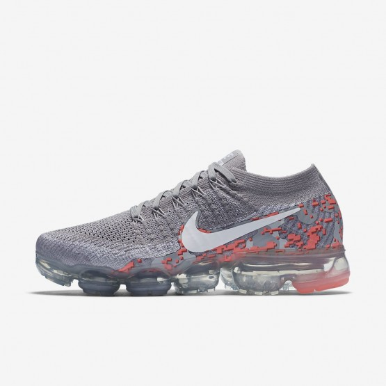 Womens Atmosphere Grey/White/Hot Punch Nike Air VaporMax Running Shoes AH8448-001