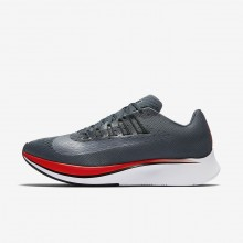 Mens Blue Fox/Bright Crimson/University Red/Black Nike Zoom Fly Running Shoes 880848-400