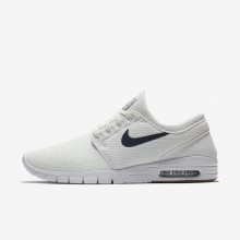 Mens Summit White/Gum Medium Brown/White/Thunder Blue Nike SB Stefan Janoski Max Skateboarding Shoes 631303-103