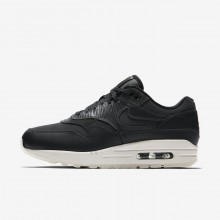 Womens Anthracite/Black/Summit White Nike Air Max 1 Lifestyle Shoes 454746-016