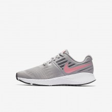 Nike Star Runner Running Shoes For Girls Atmosphere Grey/White/Gunsmoke/Sunset Pulse 907257-002