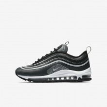 Boys Black/Anthracite/White/Pure Platinum Nike Air Max 97 Lifestyle Shoes 917998-001