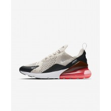 Mens Black/Hot Punch/White/Light Bone Nike Air Max 270 Lifestyle Shoes AH8050-003