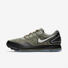 Mens Cargo Khaki/Black/Light Bone Nike Zoom All Out Running Shoes AJ0035-300
