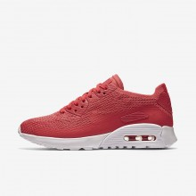 Womens Geranium/White Nike Air Max 90 Lifestyle Shoes 881109-600