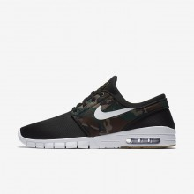 Mens Black/Medium Olive/Gum Light Brown/White Nike SB Stefan Janoski Max Skateboarding Shoes 631303-021