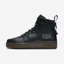 Womens Black/Dark Hazel Nike SF Air Force 1 Lifestyle Shoes AA3966-003