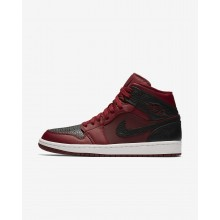 Mens Team Red/Summit White/Gym Red Nike Air Jordan 1 Lifestyle Shoes 554724-601