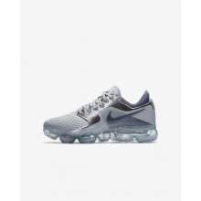 Boys Wolf Grey/Metallic Silver/Anthracite/Light Carbon Nike Air VaporMax Running Shoes 917963-006